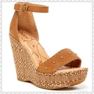 "NEW Born ""Valari"" Leather Wegde Sandals"